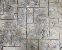 Gray with Dark Gray Stamped Concrete